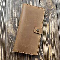 Мужской кошелек из натуральной кожи Besane с монетницей светло коричневый, фото 1