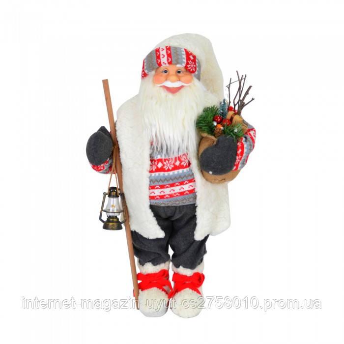 Дед Мороз с фонарем 70 см NG8511