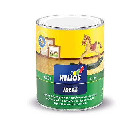 Лак для паркета акриловый (на водной основе) HELIOS IDEAL, полуматовый, 0,75л, фото 2