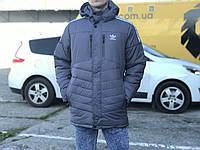 Зимняя мужская куртка Adidas, серая