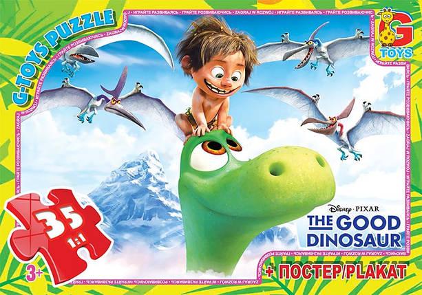 """Пазлы серии """"Хороший динозавр """" 35 эл. в кор. GToys, GD008, фото 2"""