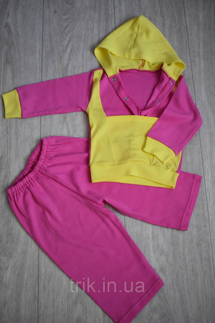 Худи для девочки костюмчик розовый полотно интерлок