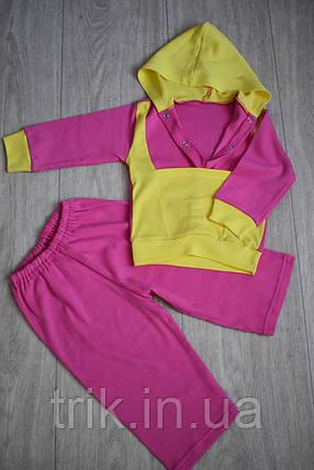 Худи для девочки костюмчик розовый полотно интерлок, фото 2