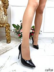 Туфли-лодочки элегантные, эко-лак