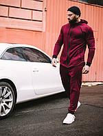 Спортивный костюм мужской весенний осенний качественный модный бордовый Дайвинг, фото 1