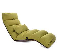 """Раскладное кресло """"Relax"""" для отдыха домой, в офис и на дачу. Зеленое. (C1)"""