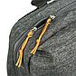 Мужской Рюкзак Городской Повседневный Тканевый Оксфорд Черный c Серым (004), фото 8