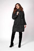 Зимнее женское молодежное пальто, цвет черный. Размеры 42 - 48