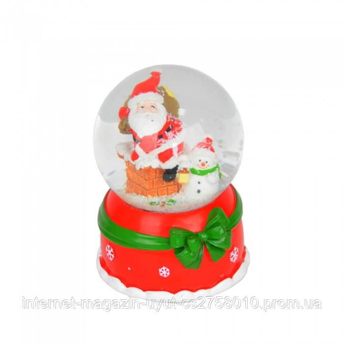 Музыкальный снежный шар с диодной подсветкой и автоподдувом снега - фото 3