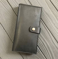 Чоловічий гаманець з натуральної шкіри Besane Elite чорний, фото 1