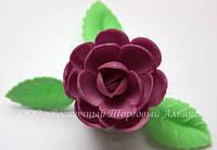 Вафельные цветы «Розы большие сложные фиолет» 28 шт