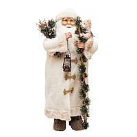 Дед Мороз в шубке с медвежонком 83см 109433
