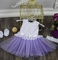 Шифоновое нарядное платье на девочку, фото 1
