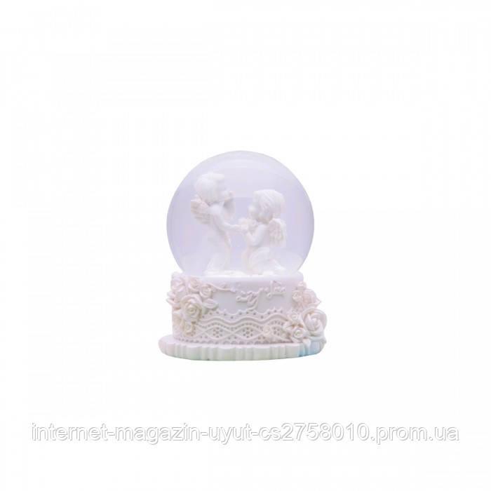 """Cнежный шар """"Ангелочки"""" со светодиодной подсветкой"""