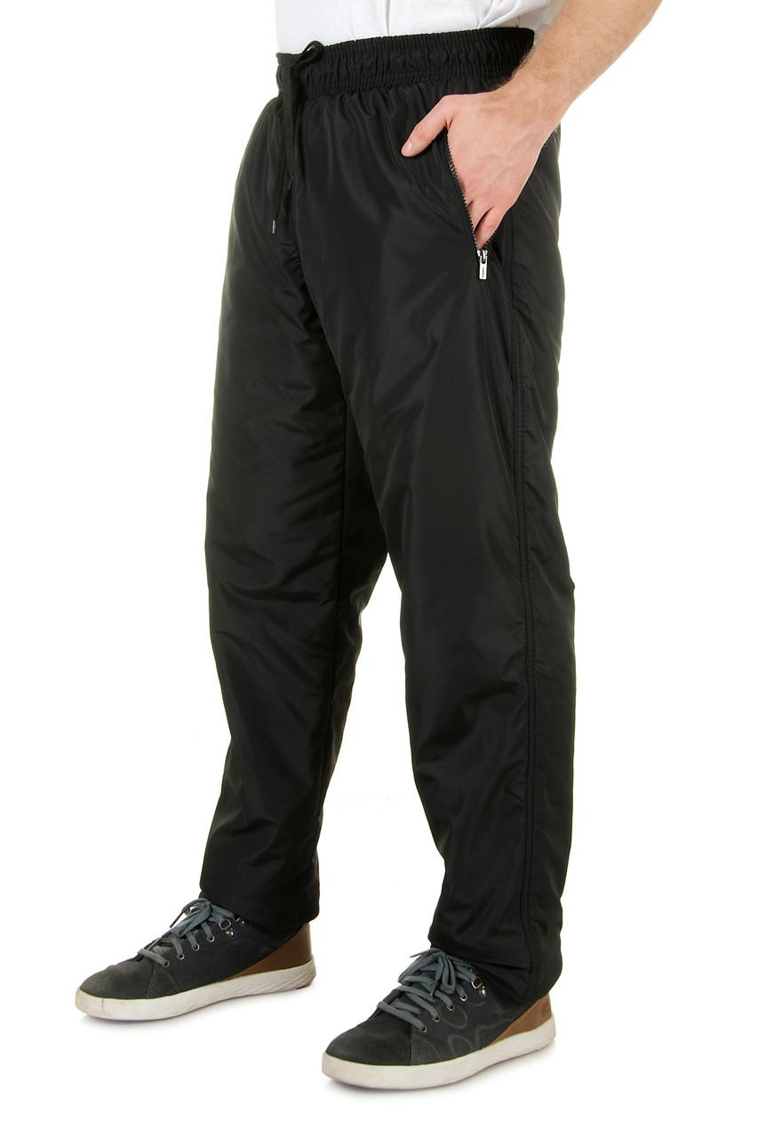 Мужские теплые спортивные штаны из плащевки на флисе