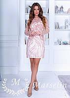 Женское нарядное платье 3D микро пайетка