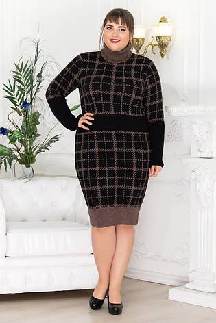 Тепле плаття, під горло велике коричневе Вінтер, фото 2