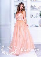 Женское длинное платье в пол с Камнями