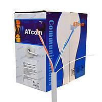 Витая пара 2 пары для внутренней прокладки ATcom Standard UTP cat5e (2*2*0,5 мм, CCA, 305 м)