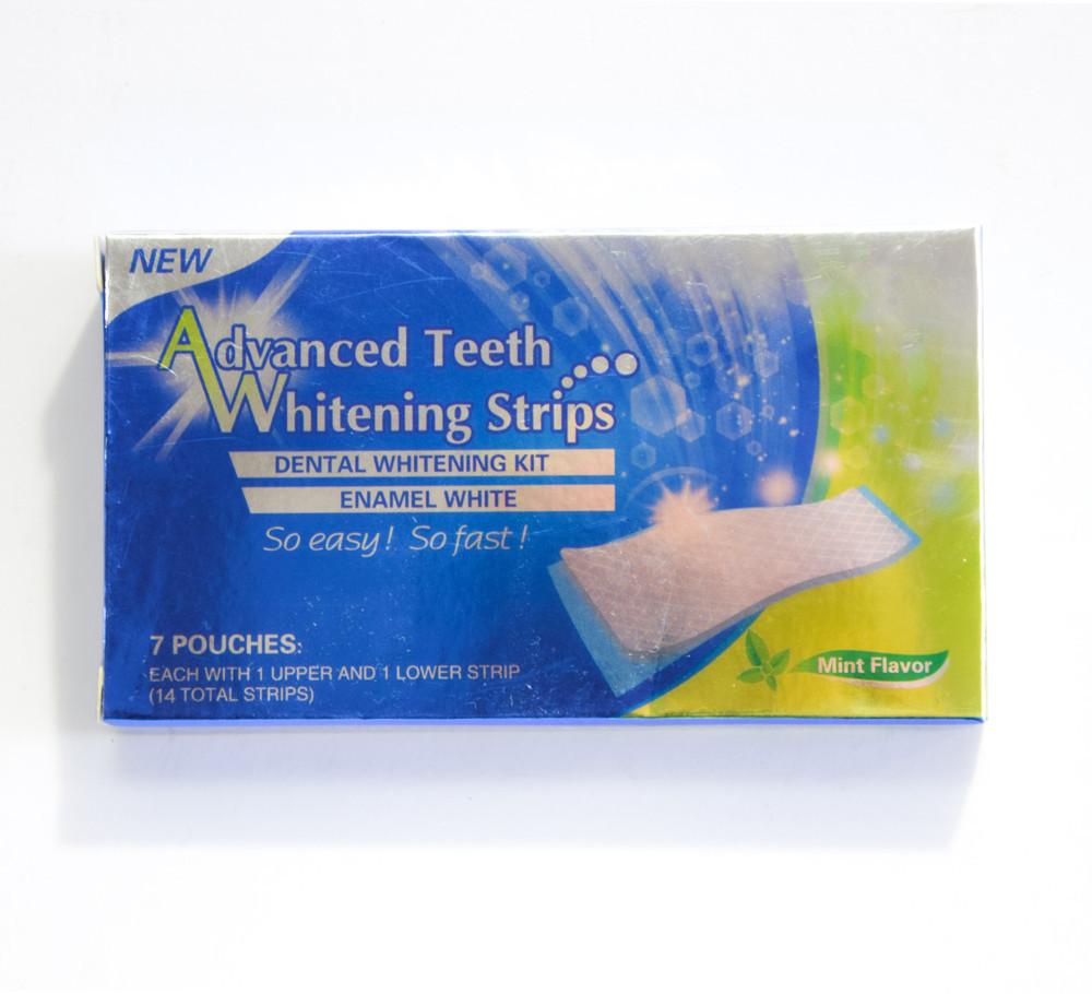 🔝 Отбеливающие полоски для зубов, Ultra Gel Whitening strips, система отбеливания зубов дома, 7 пар | 🎁%🚚