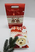 """Детские плед """"Мишки """"- подарок на Новый год в подарочной упаковке, Италия"""