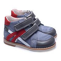 Ботинки для мальчика Theo Leo демисезонные рр 18 -25 Серые