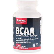 """Комплекс аминокислот с разветвленной цепью Jarrow Formulas """"BCAA"""" с глютамином и витамином В6 (120 капсул)"""