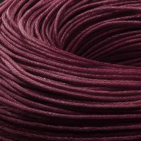 Шнур Вощеный Хлопковый, Цвет: Бордовый, Размер: Толщина 1мм, около 80м/связка, (УТ0003481)