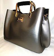"""Женская сумка, качественная """"FASHION"""", серебро,  3 отделения, 00004, фото 1"""