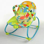 Детский шезлонг качалка / музыкальный шезлонг-баунсер Mastela 6920 - вибро, 2 положения спинки