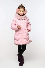 Очаровательный детский пуховик нежно-розового цвета