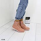 Женские зимние ботинки розового цвета, эко кожа 39 ПОСЛЕДНИЙ РАЗМЕР, фото 2