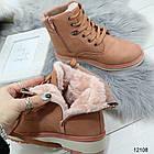 Женские зимние ботинки розового цвета, эко кожа 39 ПОСЛЕДНИЙ РАЗМЕР, фото 3