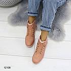 Женские зимние ботинки розового цвета, эко кожа 39 ПОСЛЕДНИЙ РАЗМЕР, фото 4