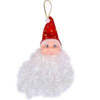 Новогодняя игрушка голова Деда Мороза