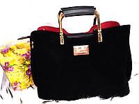 """Женская сумка, качественная """"FASHION"""", замшевая,  3 отделения, 059243-001"""