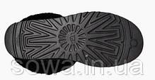"Женские замшевые зимние угги UGG CLASSIC SHORT II BOOT ""BLACK"", фото 3"