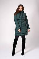 Зимнее женское пальто, цвет бутылочный Размеры 50 - 56