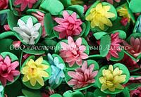 Вафельные цветы «Кактусы микс на трилистнике» 200 шт