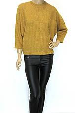 Жіноча кофта оверсайз гірчичного кольору, фото 3