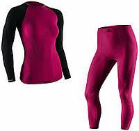 Комплект женского спортивного термобелья L Черный с розовым Tervel Comfortline