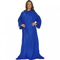 Плед Snuggie с рукавами флисовый синий SKL11-203763