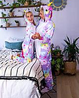 Пижама взрослая и детская (новогодний костюм) кигуруми звёздный единорог, фото 1