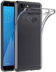 Прозрачный Чехол Asus Zenfone Max Plus M1 ZB570TL (ультратонкий силиконовый) (Асус Зенфон Макс Мах Плюс М1)