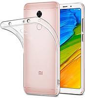 Прозрачный Чехол Xiaomi Redmi 5 Plus (ультратонкий силиконовый) (Сяоми Ксиаоми Редми 5 Плюс)
