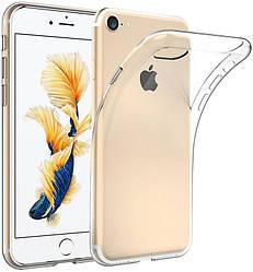 Прозрачный Чехол iPhone 7 / 8 (ультратонкий силиконовый) (Айфон 7)