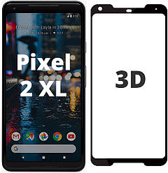 3D стекло Google Pixel 2 XL (Защитное Full Cover) (Гугл Пиксель 2 ХЛ)