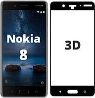3D стекло Nokia 8 (Защитное Full Cover) (Нокиа 8)