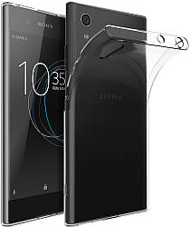 Прозрачный Чехол Sony Xperia XA1 Plus (G3412) (ультратонкий силиконовый) (Сони Иксперия ХА1 Плюс)