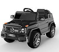 Детский электромобиль Джип черный колеса EVA деткам 3-8 лет с пультом аккумулятор 2*6V4.5AH мотор 2*25W с MP3